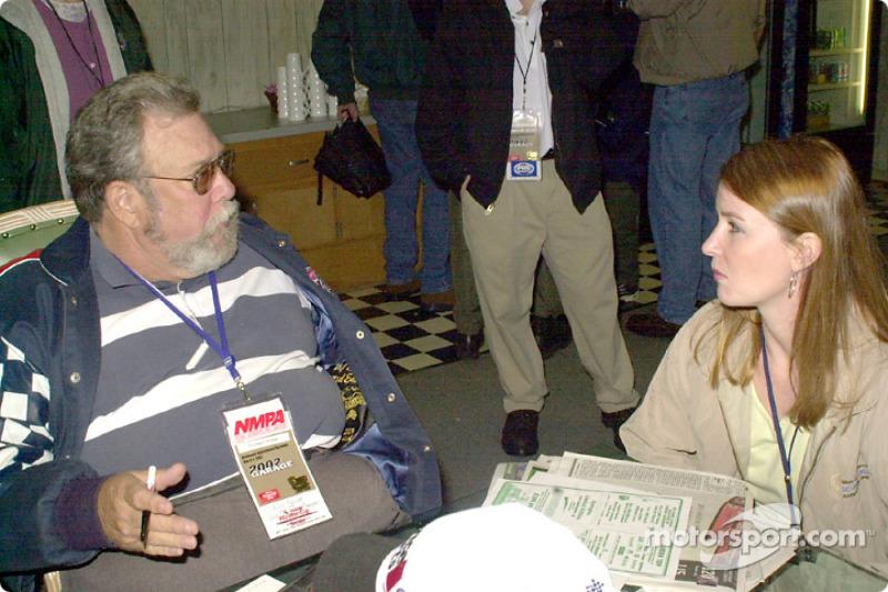 Motorsport.com's Rich Romer interviewing Sonny Hobbs