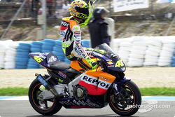 Rossi's victory lap