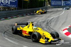 Giancarlo Fisichella and Takuma Sato