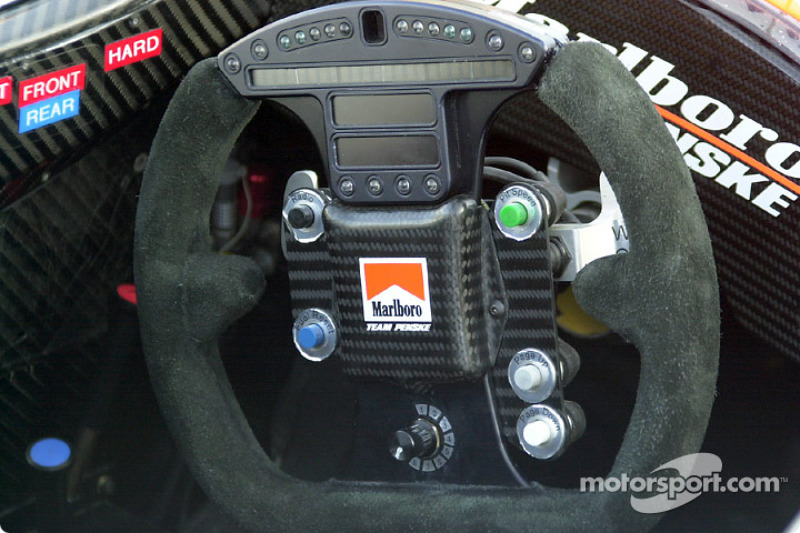 Helio Castroneves' high-tech steering wheel