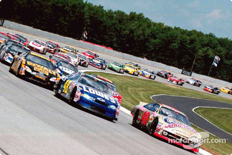 Sterling Marlin and Jimmie Johnson