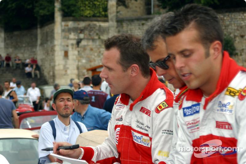 Anthony Kumpen, Mike Hezemans and Gabriele Matteuzzi
