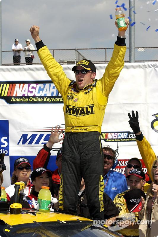 Matt Kenseth celebrating after winning the SIRIUS 400 at Michigan