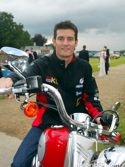 British Grand Prix Ball: Mark Webber arriving at the party