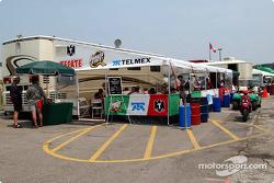 Fernandez Racing hospitality area