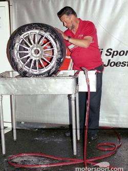 Audi Sport Team Joest crew member