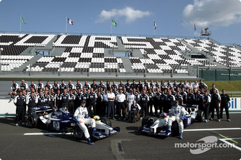 Family picture with team Williams-BMW