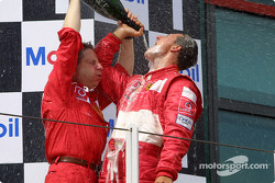 Champagne for Michael Schumacher and Jean Todt