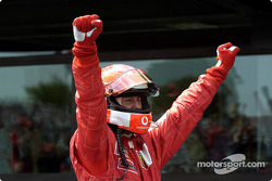 Race winner and 2002 World Champion Michael Schumacher