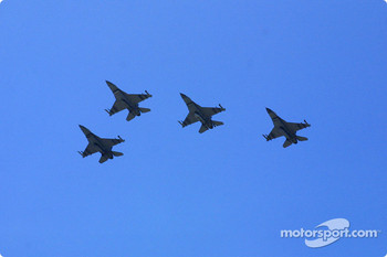 Pre-race ceremonies: flyover