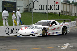 Stuart Hayner during the pace laps