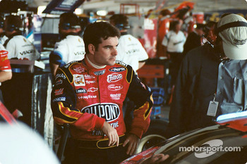 Jeff Gordon in the garage