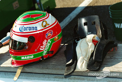 Helmet and HANS of Mario Dominguez