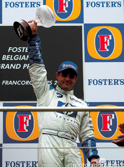 The podium: Juan Pablo Montoya