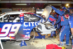 Major surgery on Jeff Burton's car