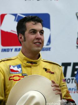 Race winner and IRL 2002 Champion Sam Hornish Jr.