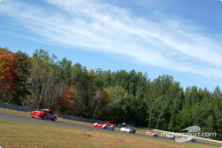 Under yellow: the pace car and the rest of the field