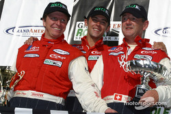 The podium: overall and SRP winners Didier Theys, Fredy Lienhard Jr. and Fredy Lienhard