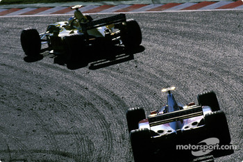 Giancarlo Fisichella and Mika Salo