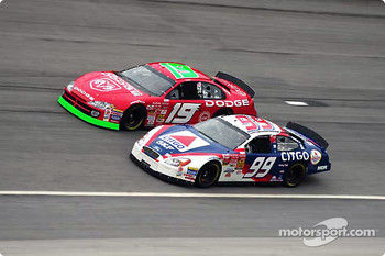 Jeremy Mayfield and Jeff Burton