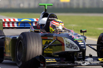 Alex Yoong in the Minardi twin-seater