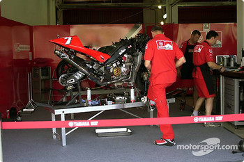 Carlos Checa's race bike