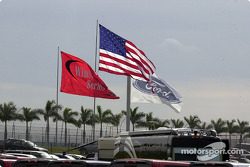 Flags fly proudly on Homestead-Miami Speedway