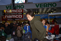 The ceremony of race legend Kazuyoshi Hoshino, retiring this year