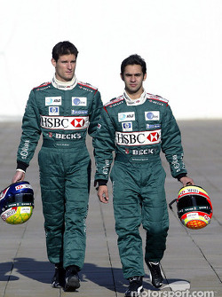 Mark Webber and Antonio Pizzonia