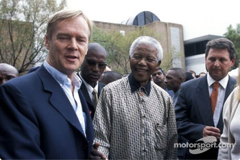 Nissan Rally Raid Team launch: Nelson Mandela and Ari Vatanen