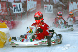The kart race: Michael Schumacher