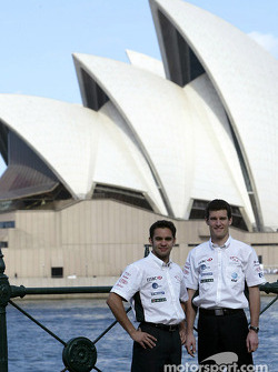 Mark Webber and Antonio Pizzonia visit Sydney