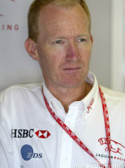 Jaguar Racing head engineer Malcom Ostler