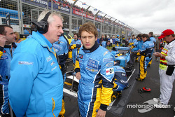 Pat Symmonds and Jarno Trulli on the starting grid
