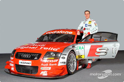 Peter Terting with the Abt-Audi TT-R of the S line Audi Junior Team