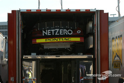 NetZero car in transporter
