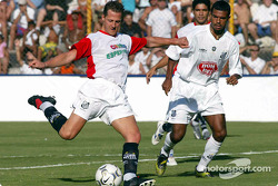 Michael Schumacher plays football at Santos