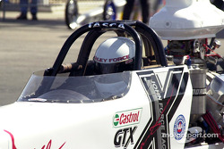 Ashley Force behind the wheel