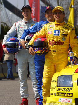 Laurent Aiello, Karl Wendlinger and Martin Tomczyk