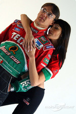 Photo shoot with Adrian Fernandez and the Tecate girls