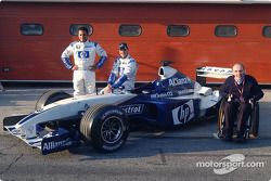 Juan Pablo Montoya, Ralf Schumacher and Frank Williams at the NiQuitinCQ presentation