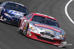 Kurt Busch battles with Rusty Wallace