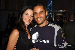 BMW WilliamsF1 Fashion Show in Barcelona: Juan Pablo Montoya with wife Connie