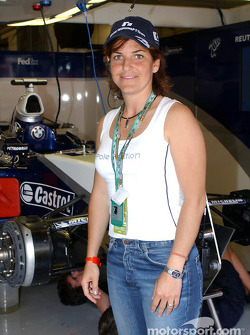 Arantxa Sanchez visits team Williams-BMW