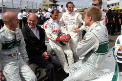 Perry McCarthy and Mika Salo have fun
