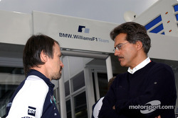 Dr Heinz Paschen BMW Construction Department with Dr Mario Theissen