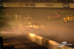 Dale Jarrett in his own smoke