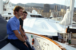 Jarno Trulli and Fernando Alonso enjoy Monaco life