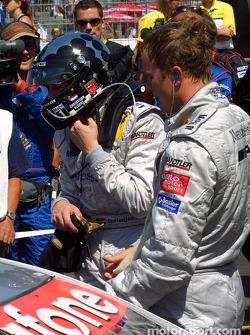 Race winner Christijan Albers and Bernd Schneider