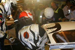 Pitstop for #83 Seikel Motorsport Porsche 911 GT3-RS: David Shep and Tony Burgess